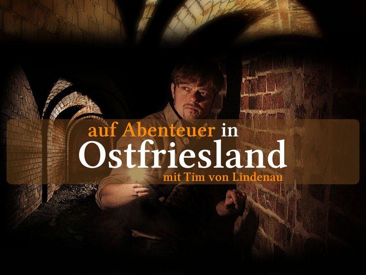 """Das Logo der Reihe """"Auf Abenteuer in Ostfriesland mit Tim von Lindenau"""""""