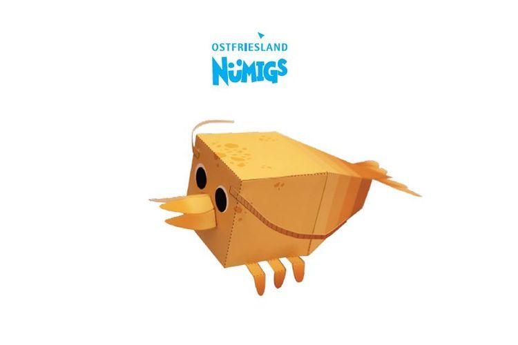 Das Nümigs Basteltierchen einer Nordseegarnele