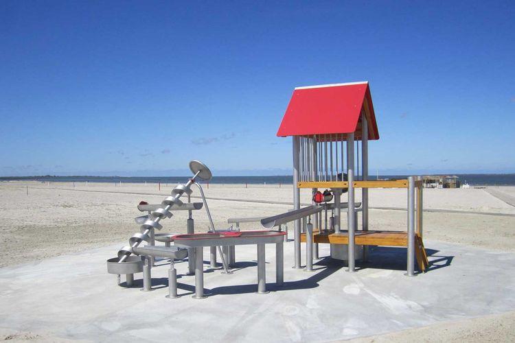 Wasserspielanlage am Strand von Bensersiel