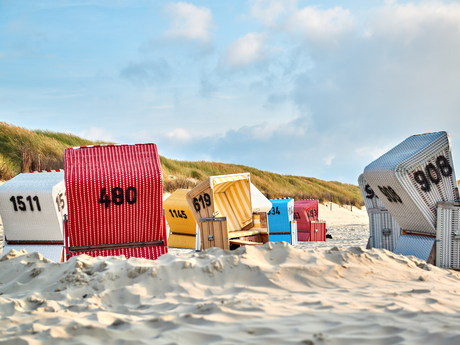 Entspannung am Nordseestrand in Ostfriesland