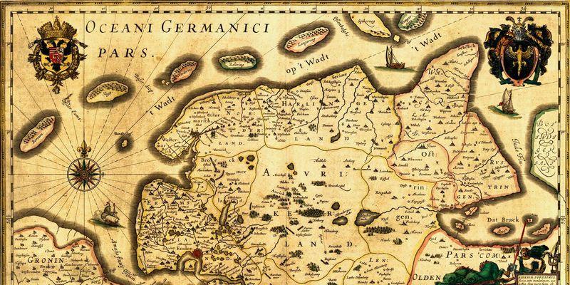 Historische Karte der ostfriesischen Halbinsel