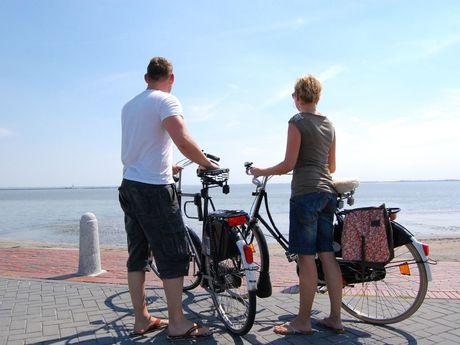 Radfahren an der Nordsee Ostfrieslands