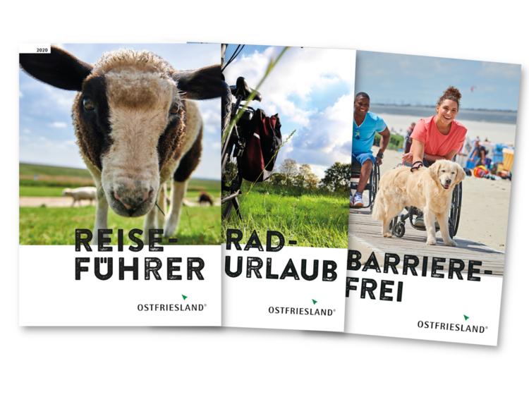 Prospekte und Kataloge Ostfriesland: Reiseführer, Radurlaub und Barrierefrei