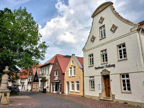 Das Gebäude der Nordwest Zeitung in der Altstadt von Jever