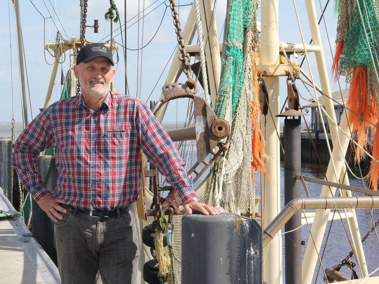 Nahaufnahme vom Fischer Uwe Caspers