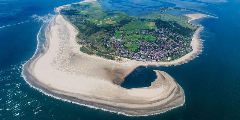 Luftbild Nordseeheilbad Borkum