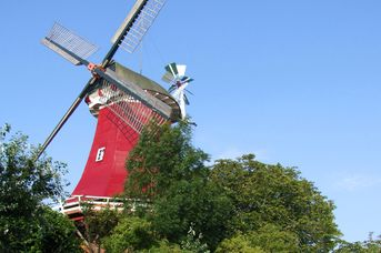 Zwillingsmühlen Greetsiel - Rote Mühle (Schoof´s Mühle)