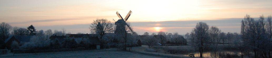 Winter auf einem Feld in Mitling-Mark