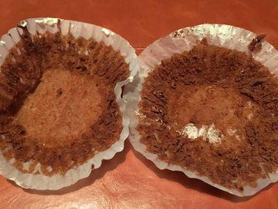 Die leeren Muffinförmchen nach dem Essen