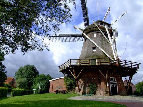 Nahaufnahme der Mühle in Mitling-Mark