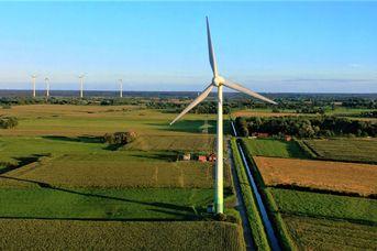 Begehbare Windkraftanlage