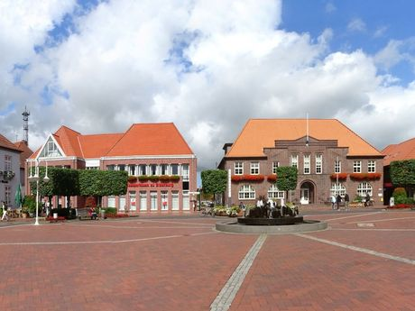 Panaoramaaufnahme vom Marktplatz in Westerstede