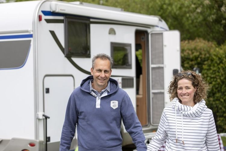 Nordsee-Camping hinter'm Deich