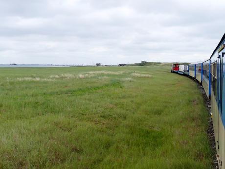 Blick aus der Inselbahn auf Wangerooge