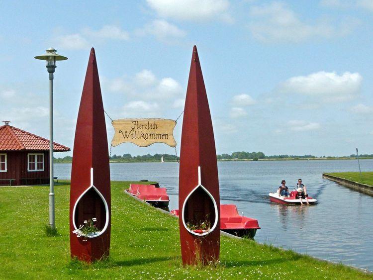 Die Paddel- und Pedalstation am Großen Meer in Südbrookmerland