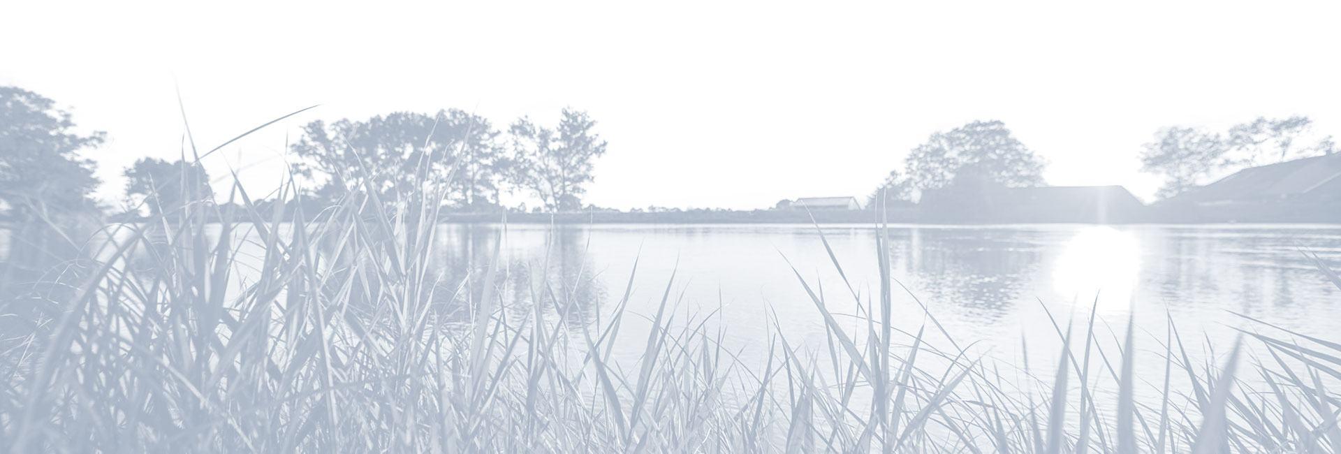 Footer mit Naturlandschaft Foto